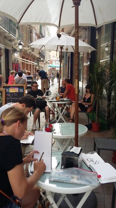 Övning med Miguel på Calle Granada