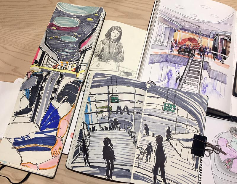 Skisser från Mall of Scandinavia