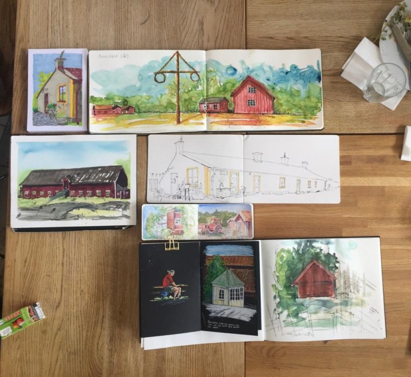Teckningar från Överjärva gård.